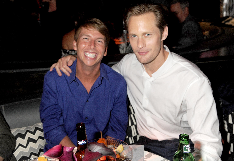 Alexander Skarsgård and Jack McBrayer