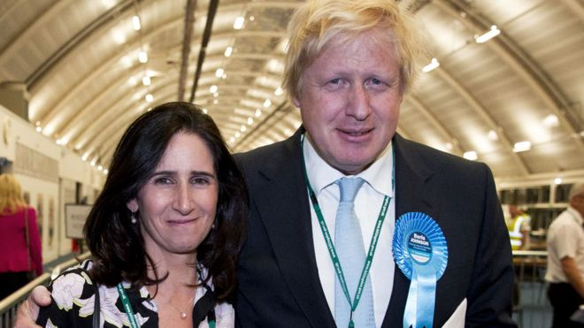 Boris and his ex-wife Marina Wheeler