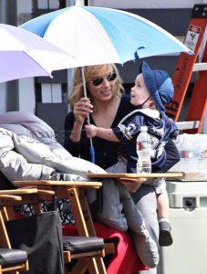 Traylor Howard with her son Sabu Howard