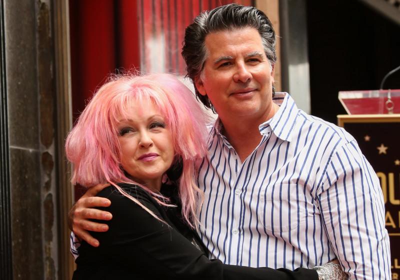 Cyndi Lauper And her husband David
