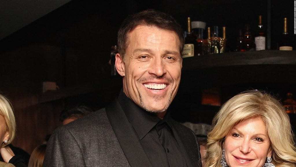 Becky with her ex-husband Tony Robbins