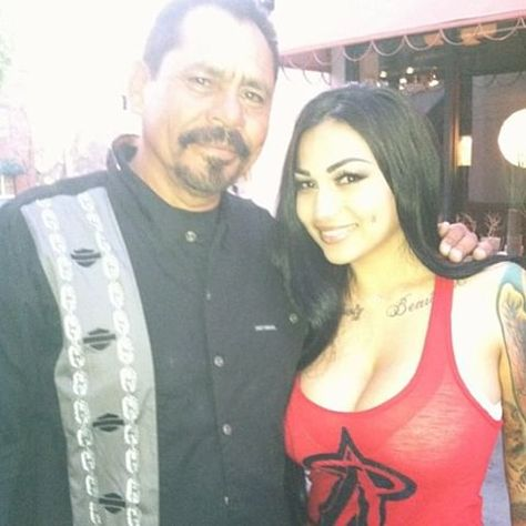 brittanya razavi with her father