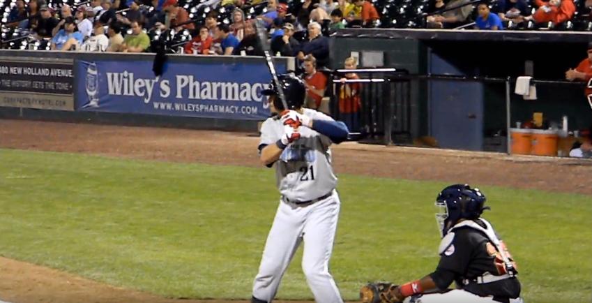 richard playing baseball