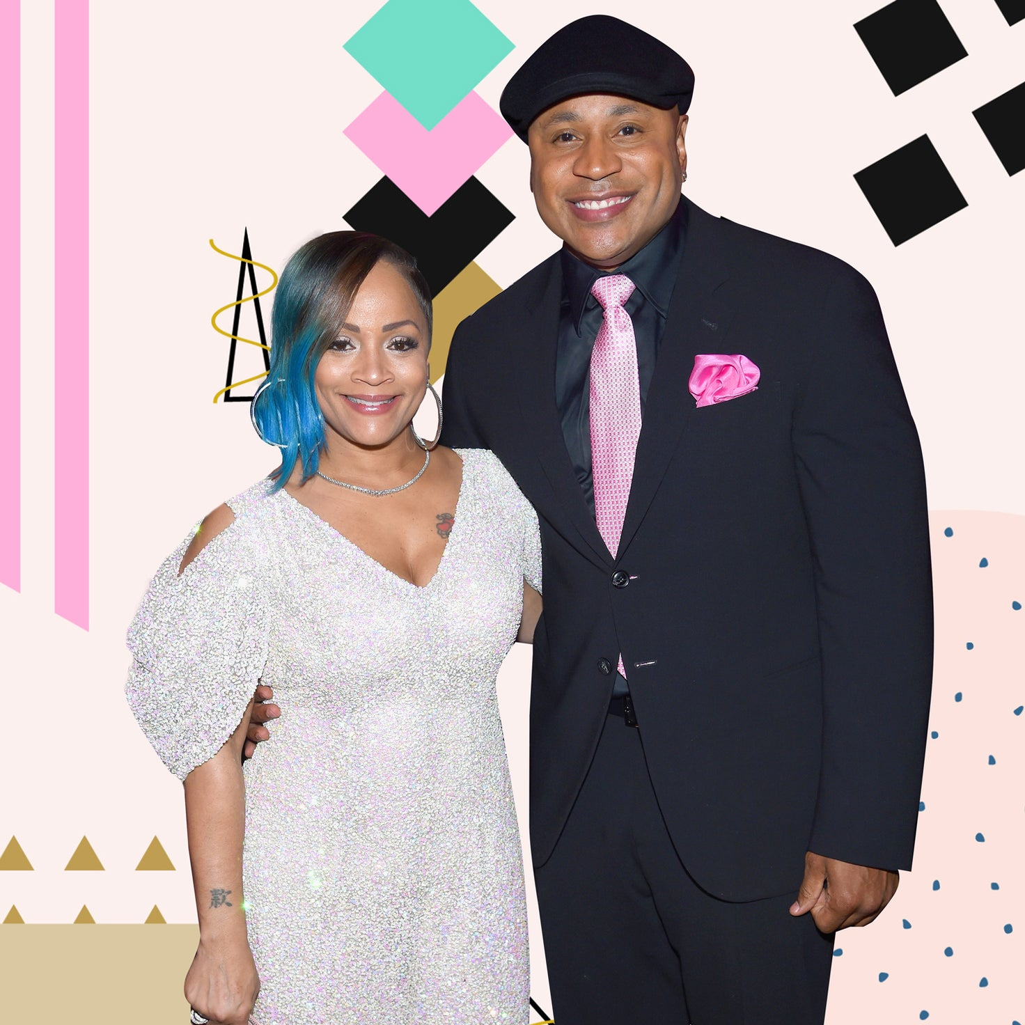 ll cool j with wife simone smith