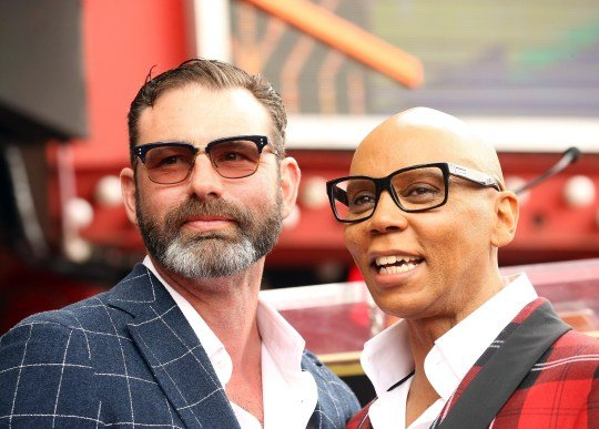 RuPaul and his partner Georges LeBar