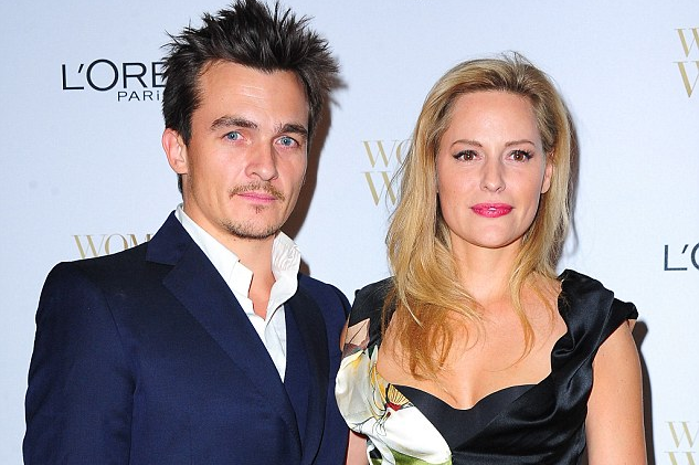 Rupert Friend and his wife Aimee
