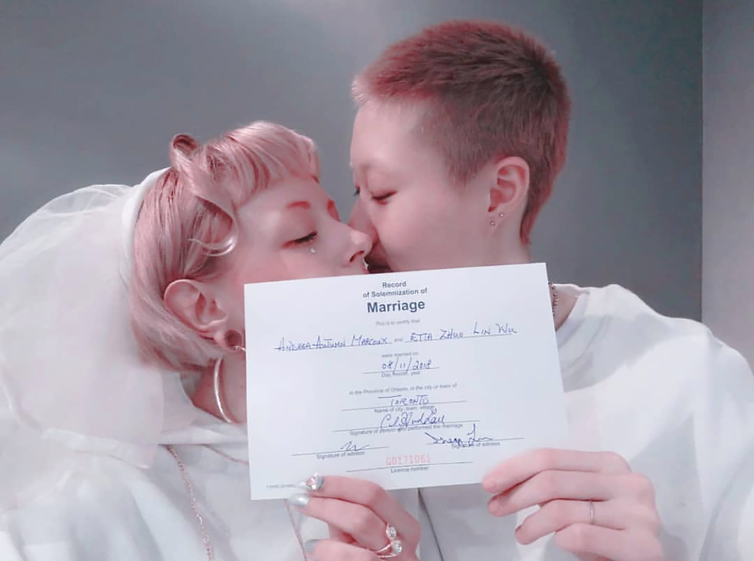 Etta Ng Chok Lam marries Andi Autumn
