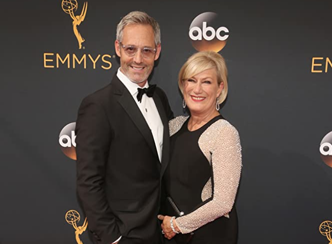 Jayne Atkinson and husband Michel Gill