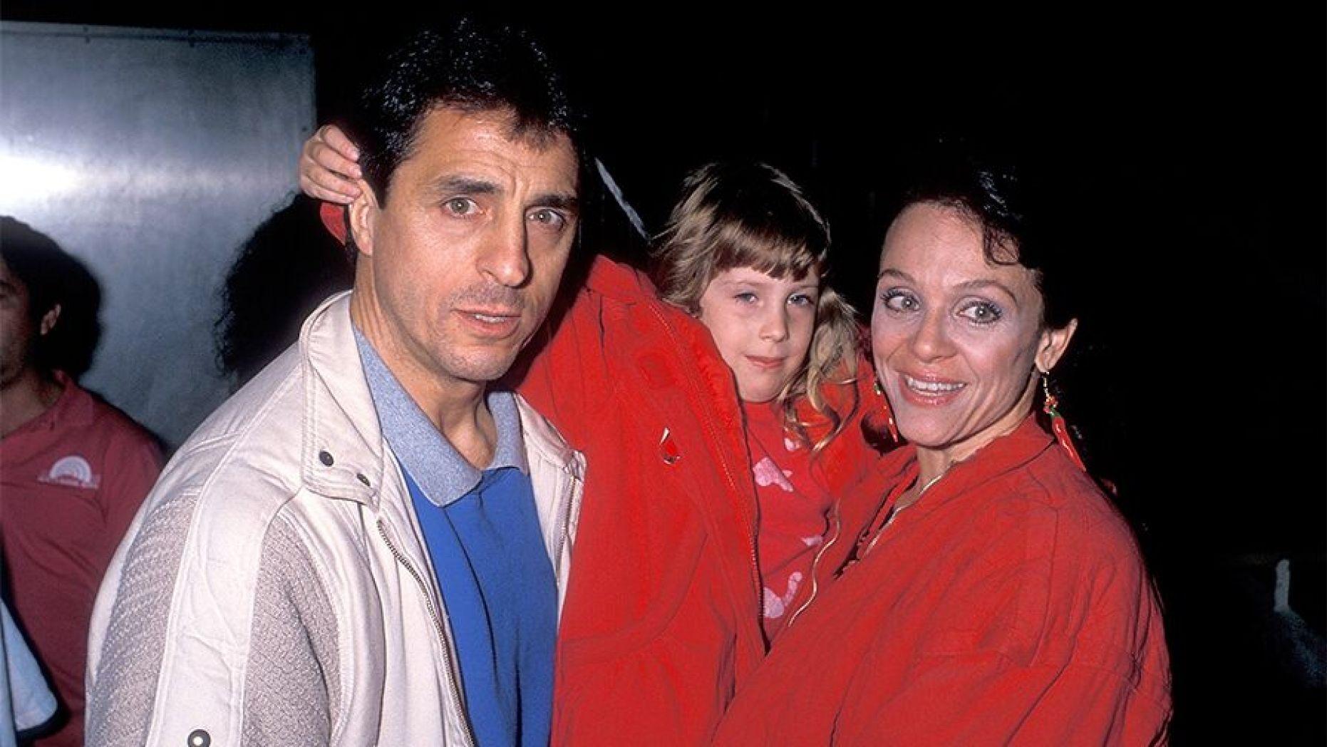 Cristina with her parents