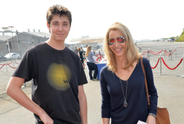 Julian Murray Stern with his mother