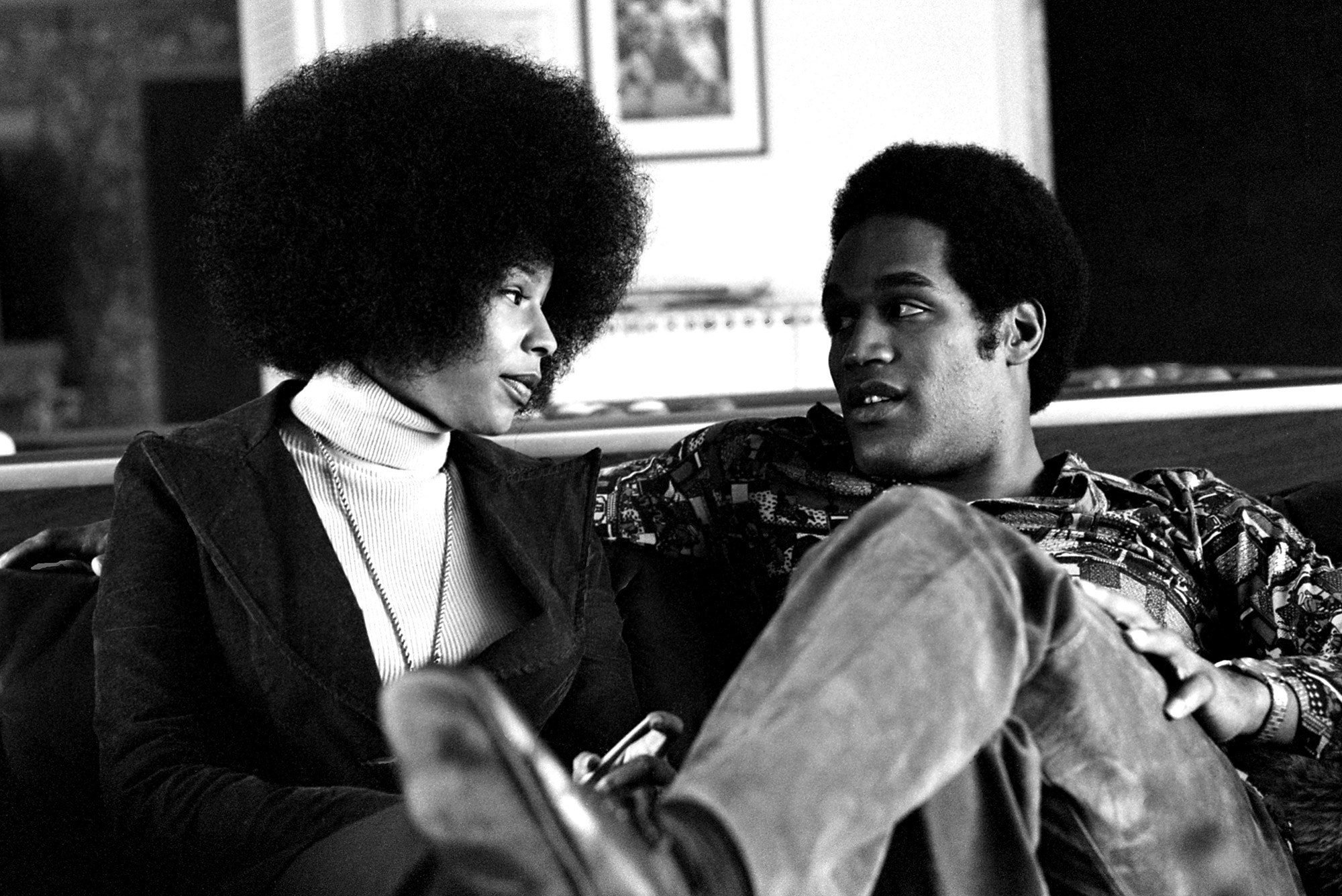 Marguerite Whitley and O.J. Simpson