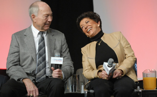 Cherry Louise Morton and Bart Starr