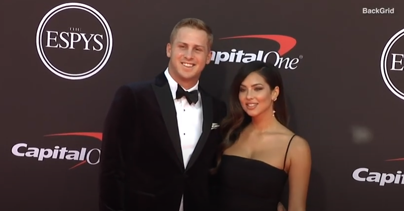 Christen Harper and Jared Goff