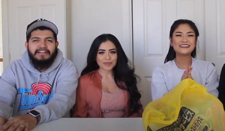 Alva and Ruben collaborating with her YouTube friend Melissa Clemente