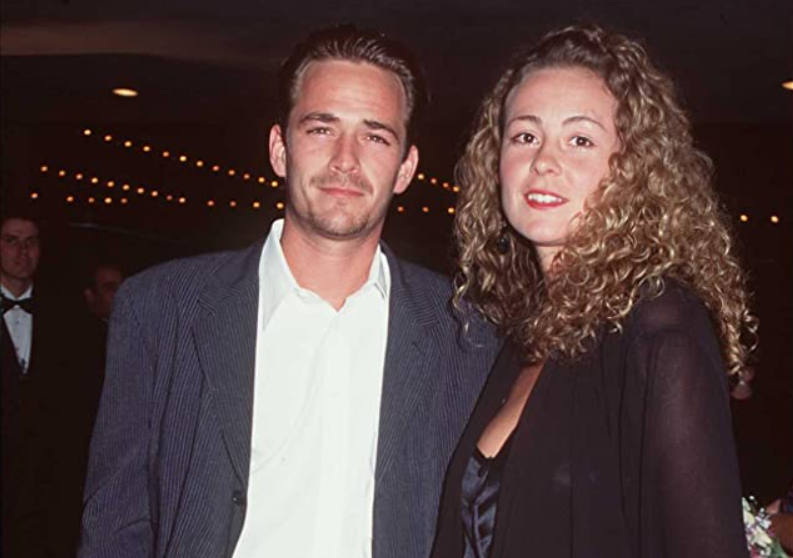 Rachel Sharp and Luke Perry