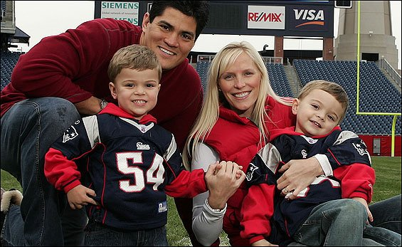 Bruschi and his family