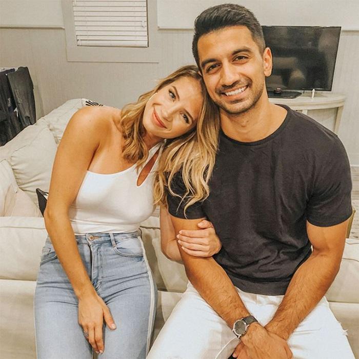 Olindo with her boyfriend Shah
