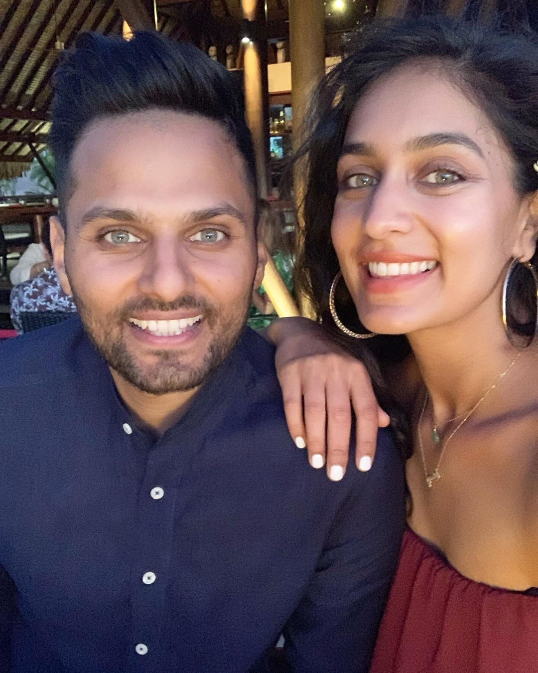 Shetty with his wife Radhi