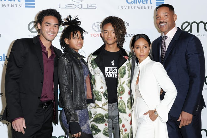 Trey Smith with her father and step-mother and siblings