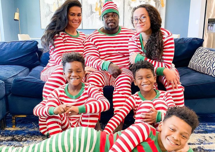 Brandon Curry with his family