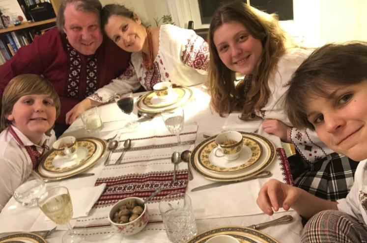 Chrystia Freeland with her family
