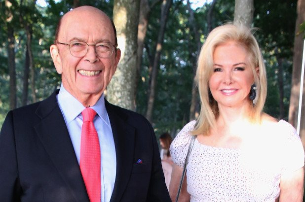 Hilary Geary Ross and Wilbur Ross