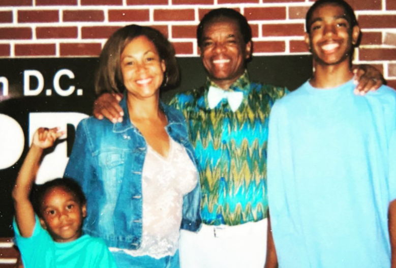 John Witherspoon with his wife and sons