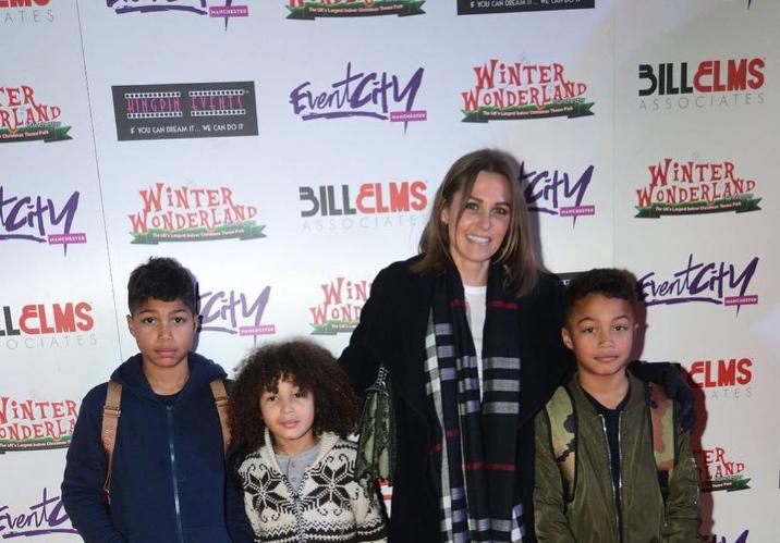 Judy Littler with her kids