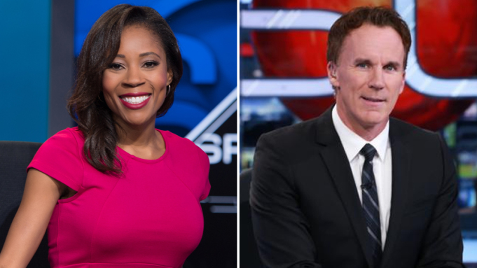 Adrienne Lawrence and John Buccigross
