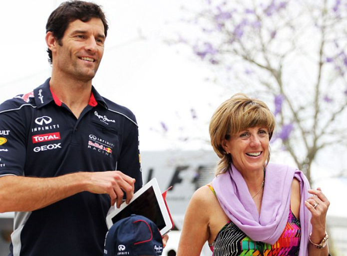 Anne Neal and Mark Webber