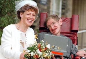 Elaine Mason and Stephen Hawking