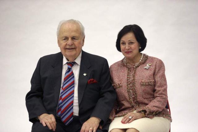 Gayle and husband Tom Benson