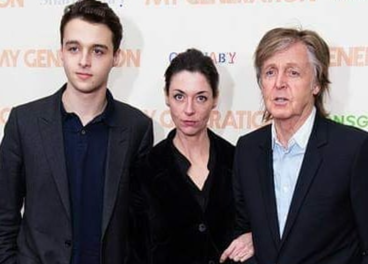 Arthur with his mother Mary and grandfather Paul