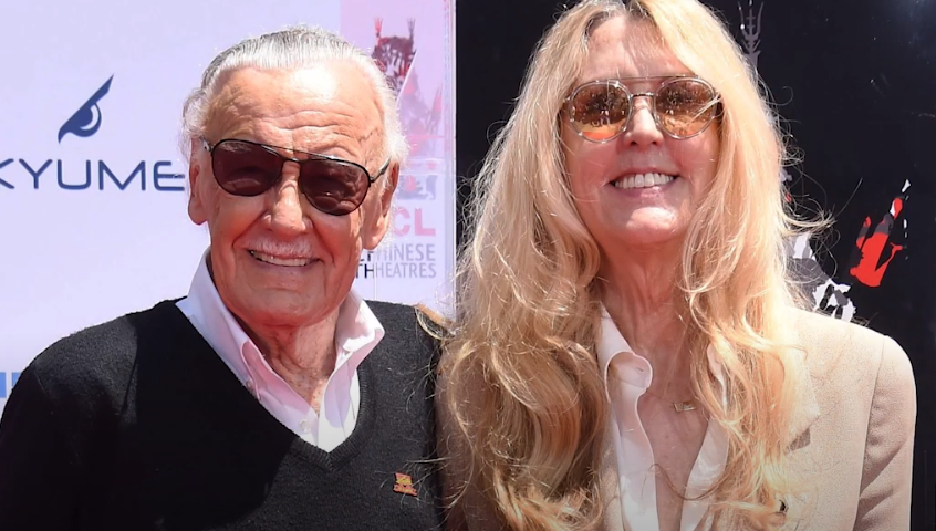 Joan Celia Lee and her father Stan Lee