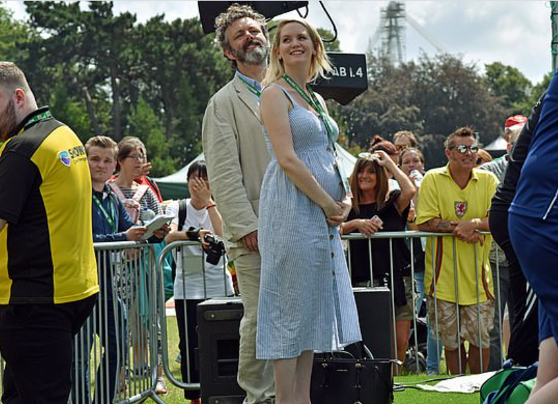 Michael Sheen and Anna Lundberg