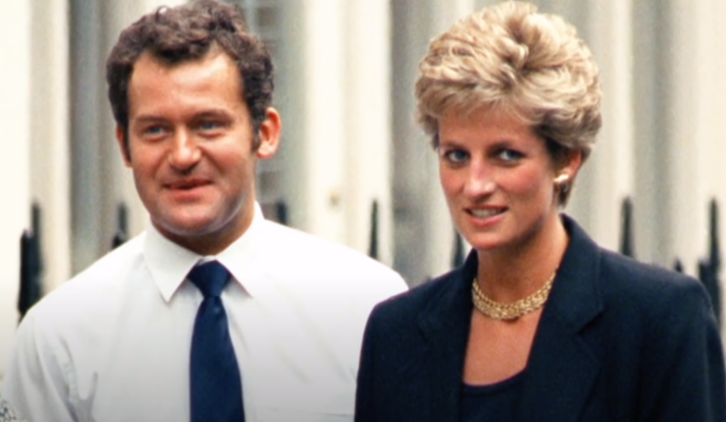 Paul serving as a butler and footman to Princess Diana